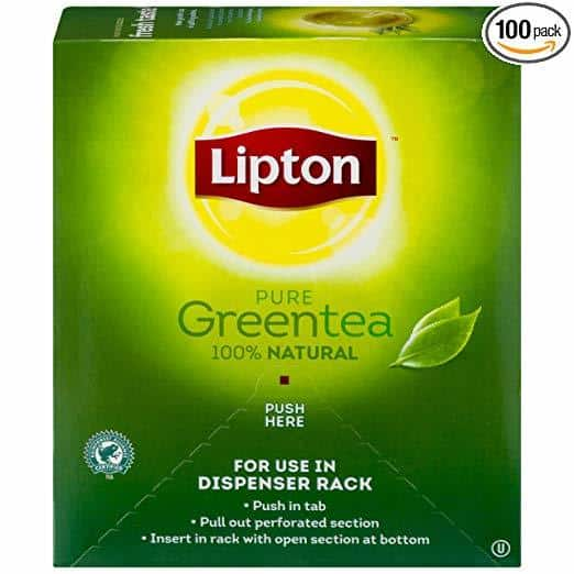A box of Lipton Green Tea Bags
