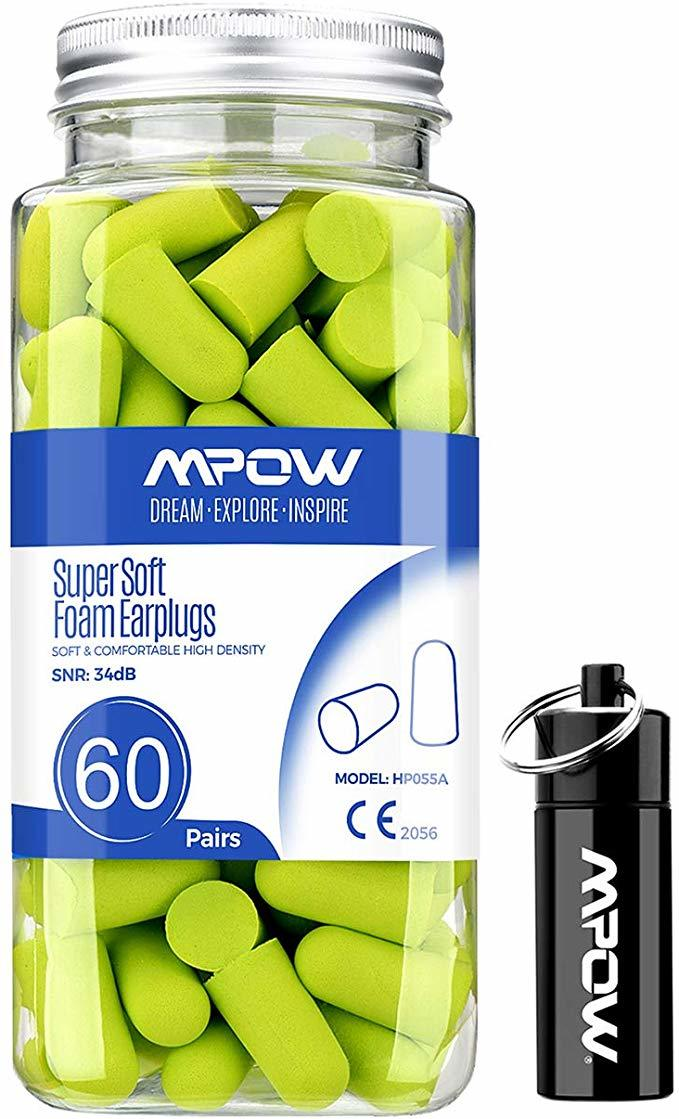 60 mpow foam ear protection plugs