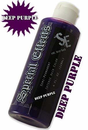 bottle of special effects sfx purple dye