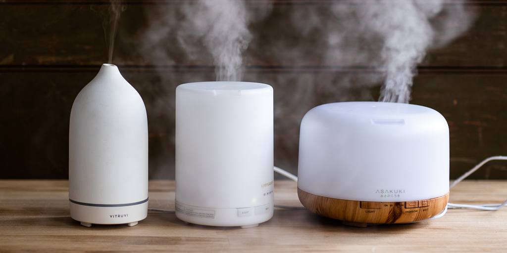help treat a sore throat with essential oil diffuser