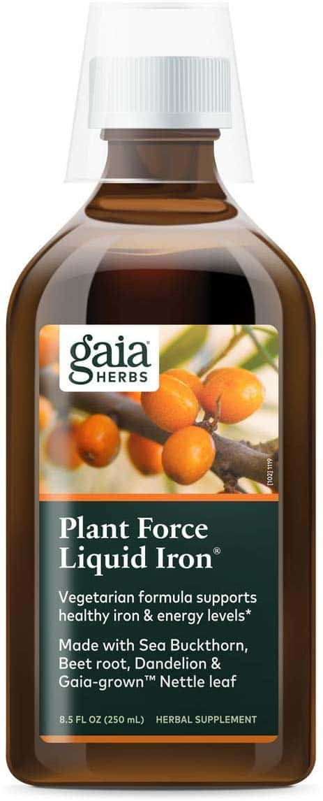 iron supplement drink by gaia herbs