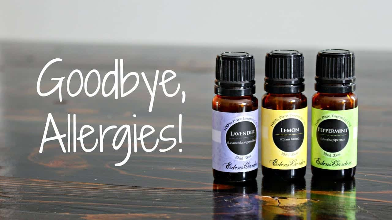 using essential oils to help treat seasonal allergies