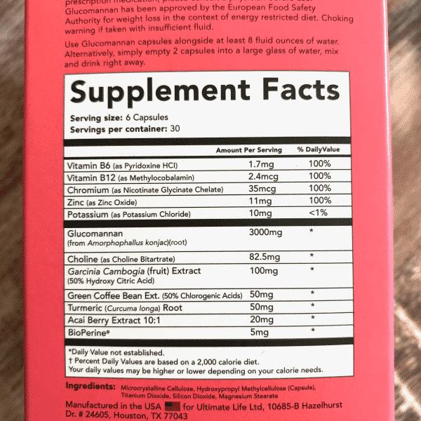 leanbean ingredients label