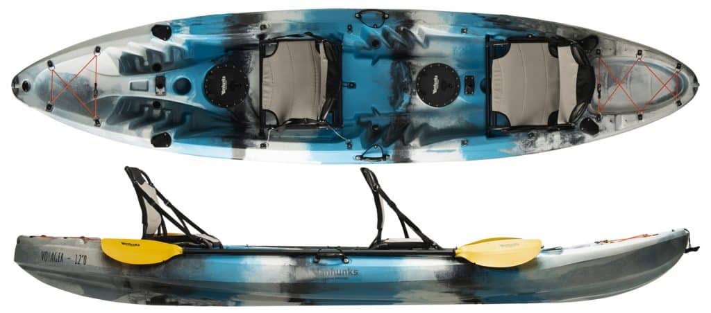 vanhunks voyager deluxe tandem fishing kayak