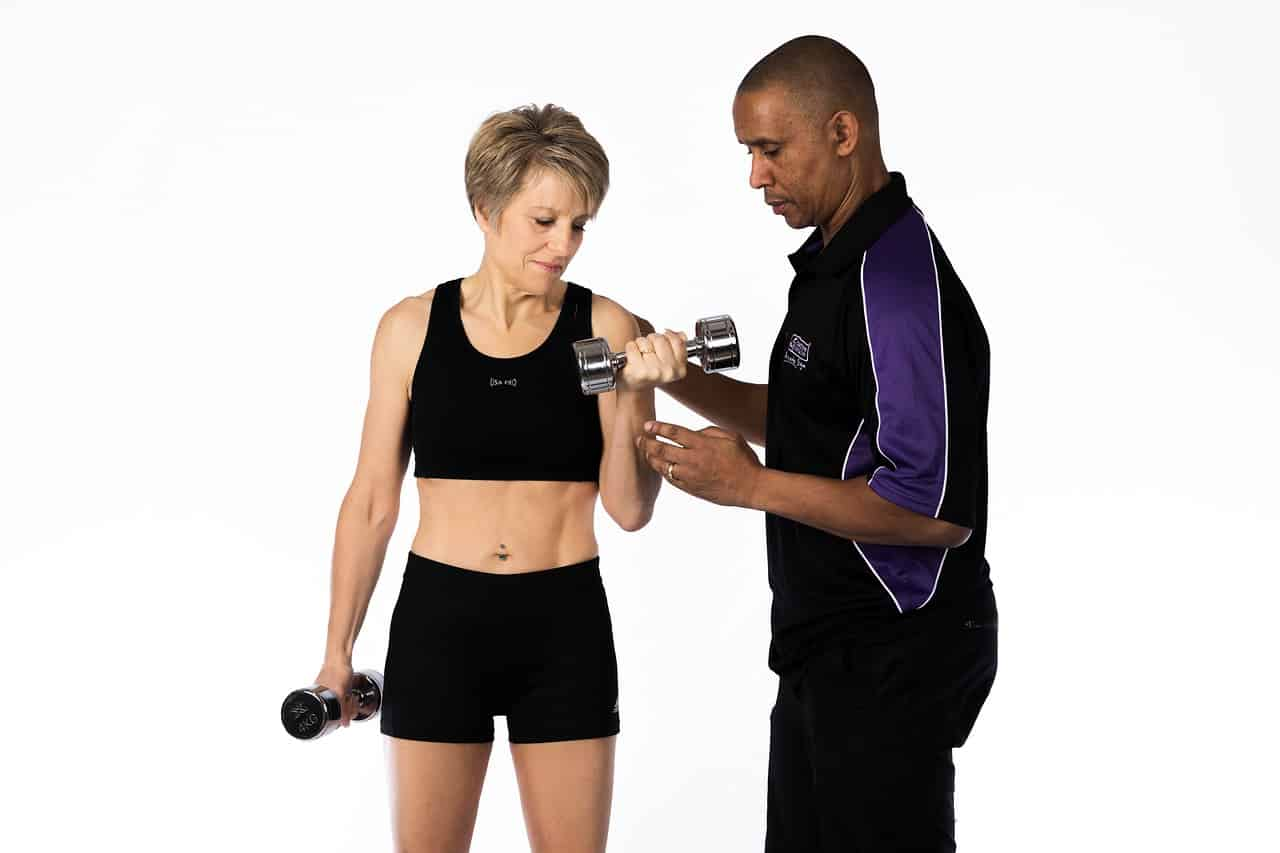 using a fitness trainer