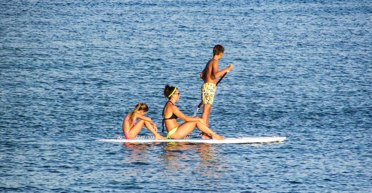 using a standup paddle board