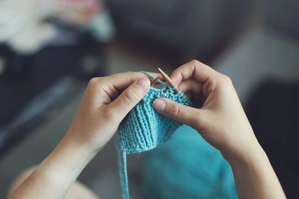 knitting for self care